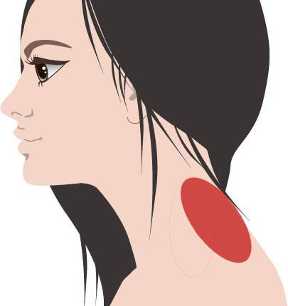 首と肩の付け根の痛みやこりを10秒で消す2