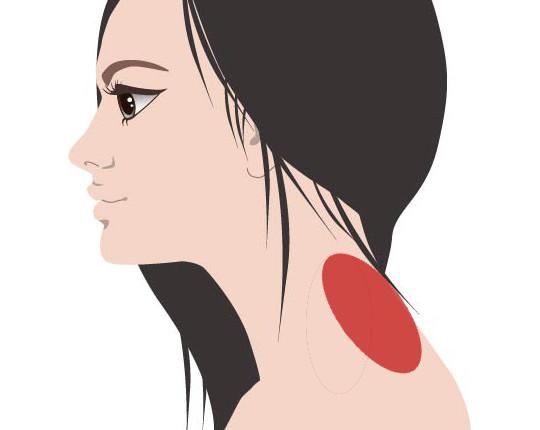 首と肩の付け根の痛みやこりを10秒で消す3