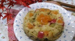 ホットケーキミックスで超~手軽!?サツマイモとリンゴの蒸しケーキ!6