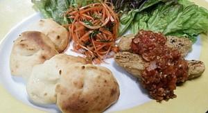 カロリーが低く美味し~いベジプレート!?大豆ウィンナー椎茸トマトソース14