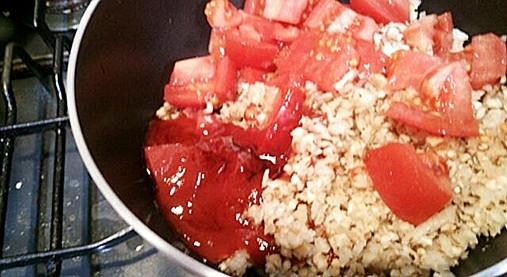 カロリーが低く美味し~いベジプレート!?大豆ウィンナー椎茸トマトソース9