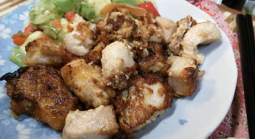 豆腐と鶏むね肉でヘルシー唐揚げ!にんにく&生姜アレンジ《ギャル曽根》5