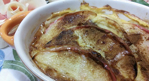 ほっかほか~リンゴのキッシュ風スイーツ!?ホットケーキミックスで!3