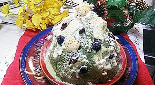 クリスマスツリーの抹茶ケーキ!?食パン&ホットケーキミックスで!11
