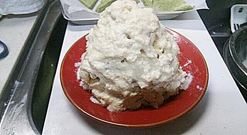 クリスマスツリーの抹茶ケーキ!?食パン&ホットケーキミックスで!9