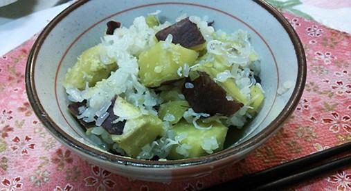 サツマイモとシラスの炊き込みご飯4