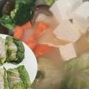 豚入り白菜ロールとブロッコリーのほっこりアツアツ鍋レシピ!10