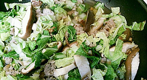 寒い日に!濃厚とろ~り白菜【シイタケと白菜のあんかけ煮レシピ】5