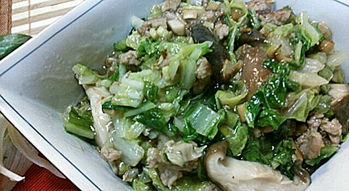 寒い日に!濃厚とろ~り白菜【シイタケと白菜のあんかけ煮レシピ】6