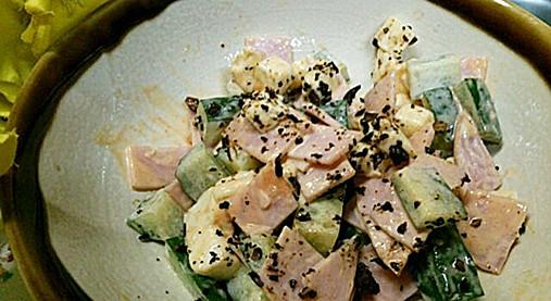 手作りフライドガーリック風味が良い!?きゅうり&チーズの和え物レシピ!5