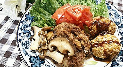 ベジプレートで超~ヘルシー!?カボチャコロッケ&レンコンのステーキ!12