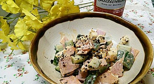 手作りフライドガーリック風味が良い!?きゅうり&チーズの和え物レシピ!6