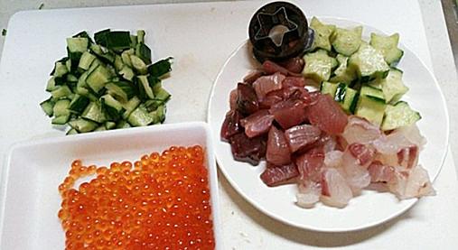 ひな祭り~お祝い海鮮ちらしレシピ!?はまぐりのお吸い物を添えて!4