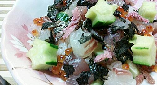 ひな祭り~お祝い海鮮ちらしレシピ!?はまぐりのお吸い物を添えて!9