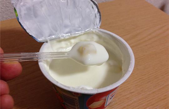 グリコ朝食りんごヨーグルト!?角切り&すりおろしりんご食べた感想!4