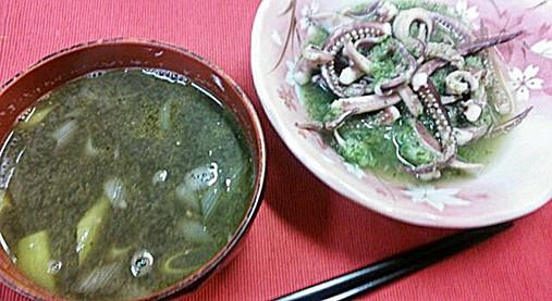 山瀬まみボンビーガールレシピ!?イカわた味噌汁&ゲソのきゅうり和え!