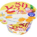 どっさりフルーツヨーグルト→ナタデココで食感アップリニューアル!2