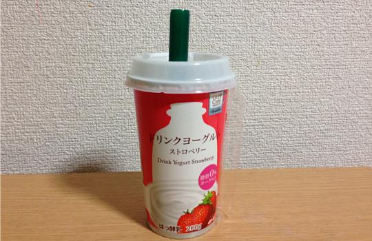 ローソンウチカフェ|ドリンクヨーグルト脂肪0%ストロベリー200g6