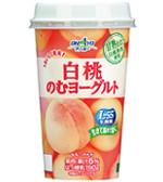 おいしく果実 白桃のむヨーグルト