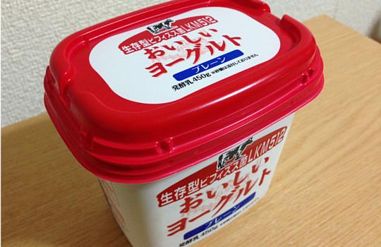 おいしいヨーグルトプレーン無糖450g|生存型ビフィズス菌LKM512・2