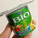 ダノンビオしゃきしゃきフルーツミックス75g×4|高生存ビフィズス菌BE80・2