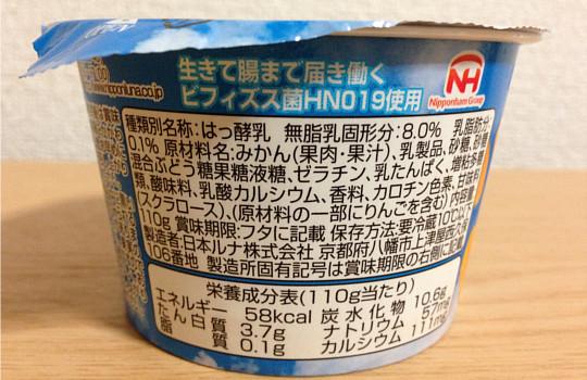 Lunaガツン、と みかんヨーグルト110g|ぎっしりスッキリ果肉←食べた感想3