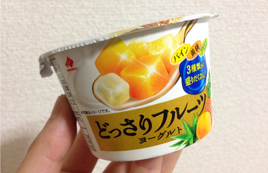 どっさりフルーツヨーグルト120g|パイン・黄桃・アロエ←食べた感想