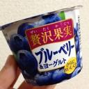 オハヨー贅沢果実ブルーベリー&ヨーグルト125g|大粒果肉入り←食べた感想