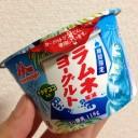~期間限定~森永・ラムネ風味ヨーグルトナタデココ入り118g←食べた感想