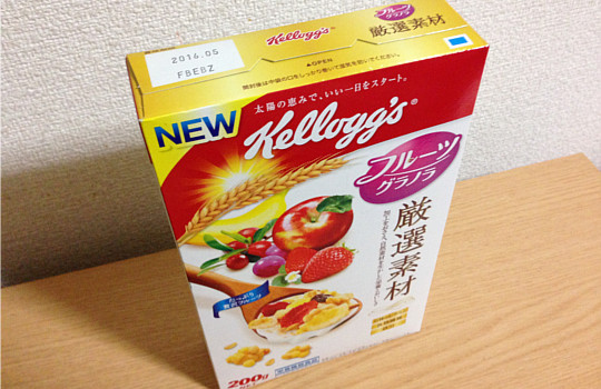 ケロッグフルーツグラノラ厳選素材←「優しい食感と素朴な味わい」いいね!2