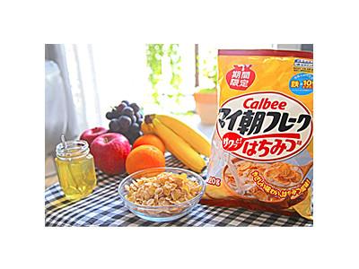子供向けシリアル~カルビー「マイ朝フレークはちみつ味」期間限定・新発売