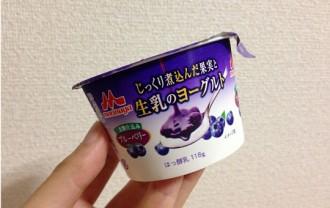 森永・じっくり煮込んだ生乳のヨーグルト(ブルーベリー)118g←食べた感想