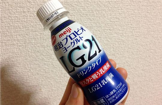 フルーツに明治LG21ヨーグルトをかけて健康管理してます!3
