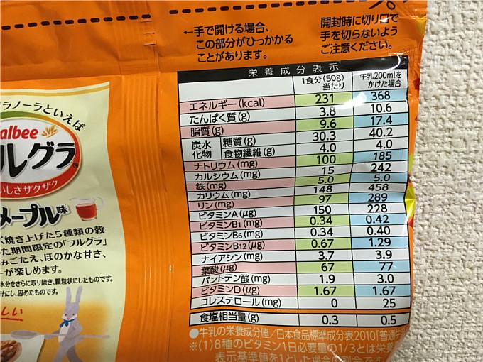 カルビーフルグラ「4種の実りメープル味」←食べてみた2
