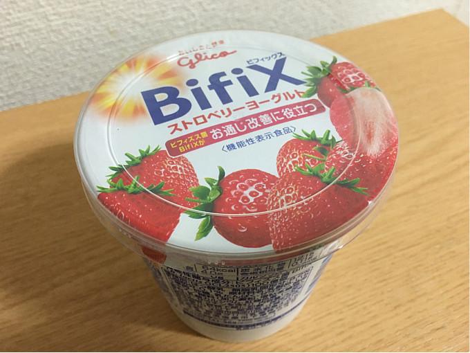 グリコ「BifiX(ビフィックス)ストロベリーヨーグルト」