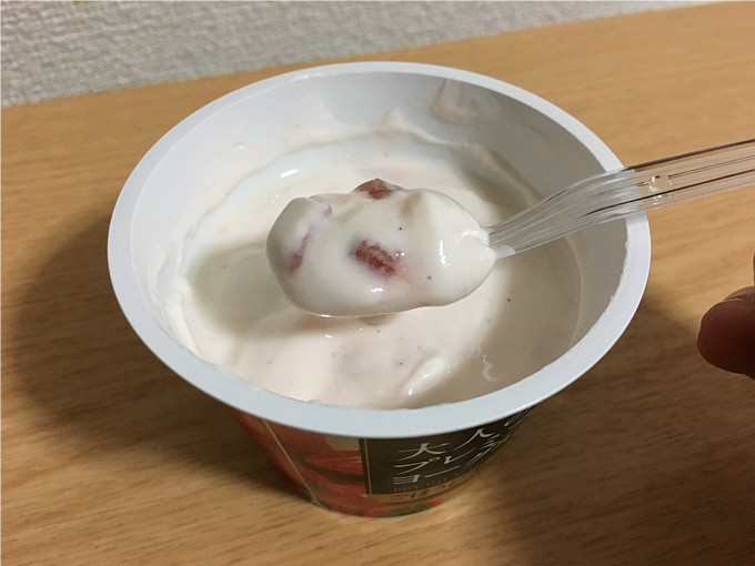 大人のプレミアムヨーグルト「ごほうび苺バニラ」←食べた感想4