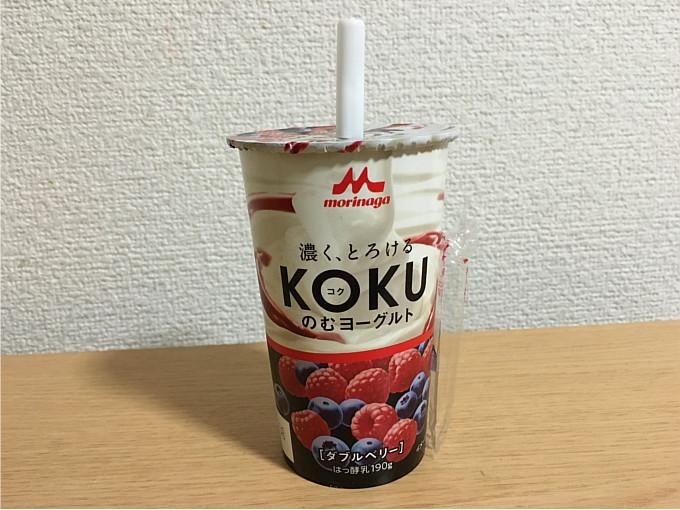 森永KOKUコクのむヨーグルトダブルベリー←濃厚でお口の中でとろけるおいしさ!4