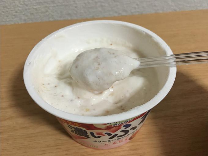 オハヨー「濃いふわクリーミーヨーグルト(いちじく)」←食べてみた6