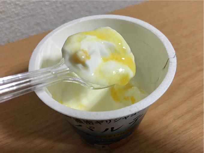 森永パルテノヨーグルト「オレンジソース入り」←つぶつぶオレンジ&なめらか食感が旨い!9