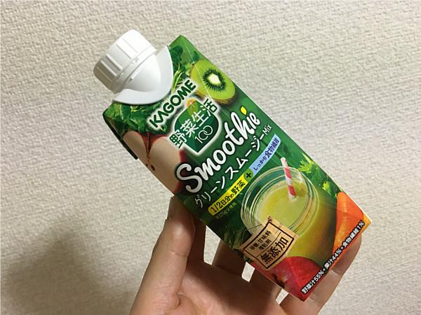 カゴメ野菜生活100「グリーンスムージーMix」←飲んでみた