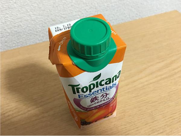 トロピカーナエッセンシャルズ鉄分(マンゴーブレンド)←飲んでみた2