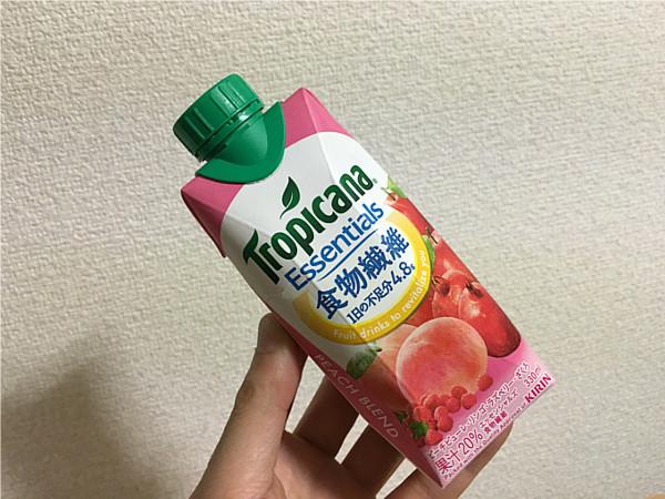 トロピカーナエッセンシャルズ食物繊維(ピーチブレンド)←飲みやすくおいしいね!