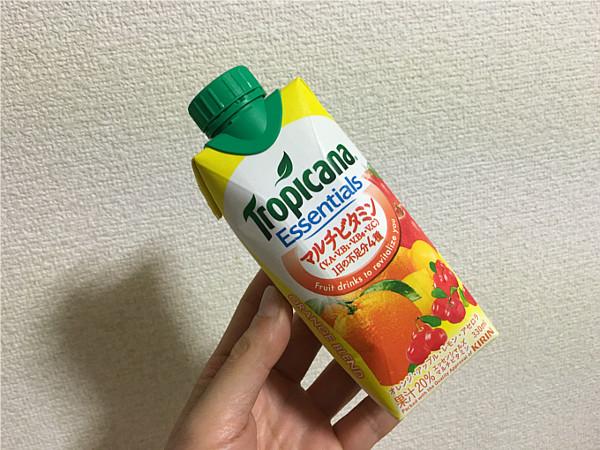 トロピカーナエッセンシャルズ「マルチビタミン(オレンジブレンド)」←飲んでみました