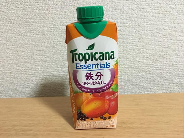 トロピカーナエッセンシャルズ鉄分(マンゴーブレンド)←飲んでみた5