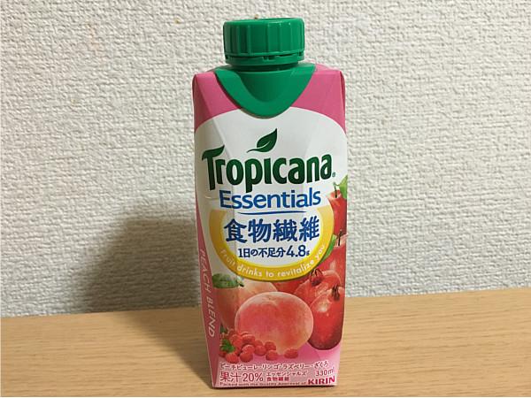 トロピカーナエッセンシャルズ食物繊維(ピーチブレンド)←飲みやすくおいしいね!4