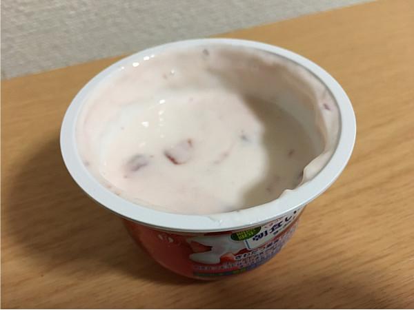 グリコ「朝食いちごヨーグルト」食べてみました4