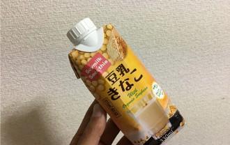 めいらく「豆乳きなこ(ソイミルクスムージー)」←ホッコリした甘さがうれしいね!