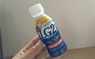LG21ドリンクヨーグルトりんご&蜂蜜←飲んでみました