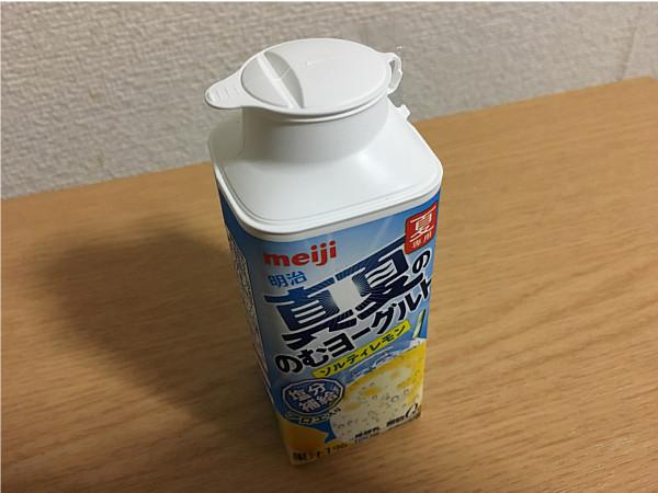 明治「真夏ののむヨーグルトソルティレモン」←夏専用・塩分補給にどうだろうか?3