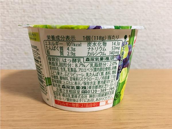 森永アロエヨーグルトぶどうづくし←食べてみましたが...3